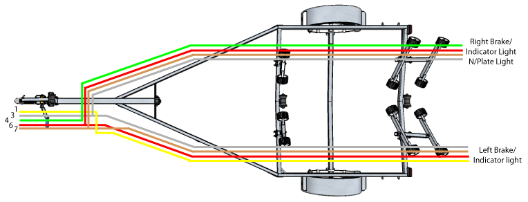 Wiring plan view boat trailer wiring diagram & trailer connectors in north wiring led trailer lights diagram at aneh.co